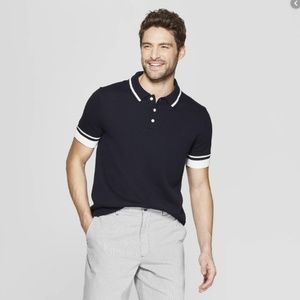 Goodfellow Size S Navy Blue Short Sleeve Polo